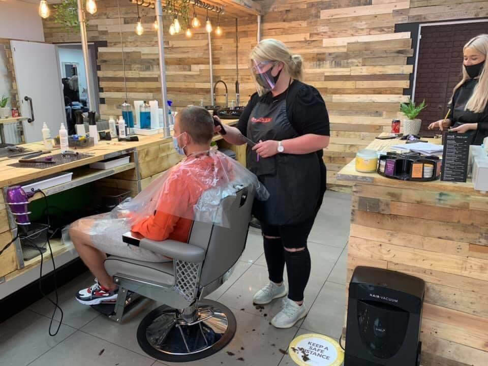 Client receiving clipper cut